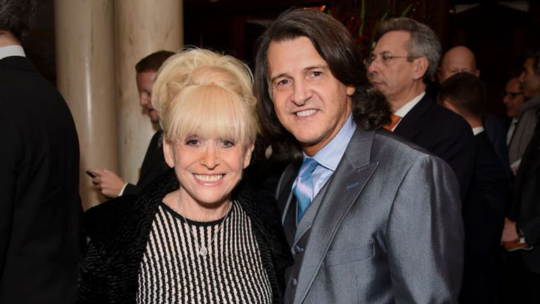 Barbara Windsor and Scott Mitchell are pictured in 2017