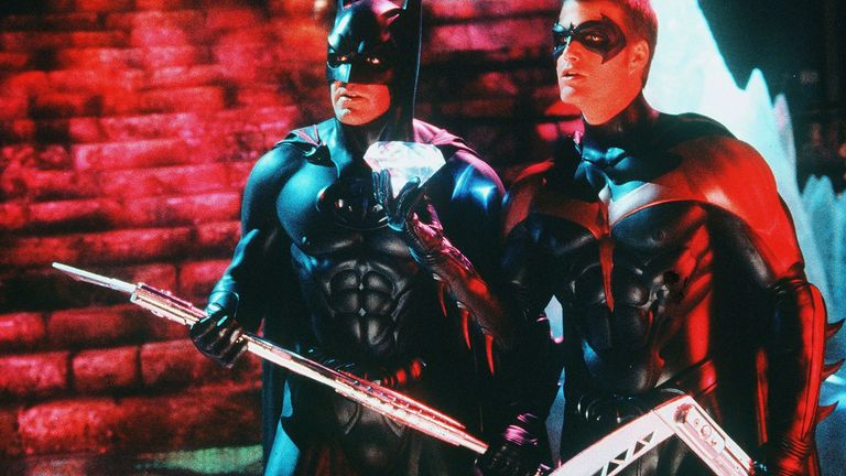 Schumacher's 1997 film starred George Clooney as Batman and Chris O'Donnell as Robin