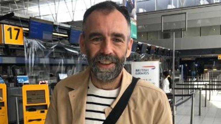 Ben Blackshore flew into the UK from Amsterdam