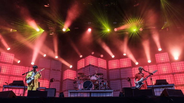 Biffy Clyro perform on stage during Isle of Wight Festival 2019 at Seaclose Park on June 16, 2019 in Newport, Isle of Wight