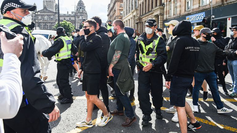 Police in Glasgow were given temporary powers to allow them to search any person or vehicle in the city