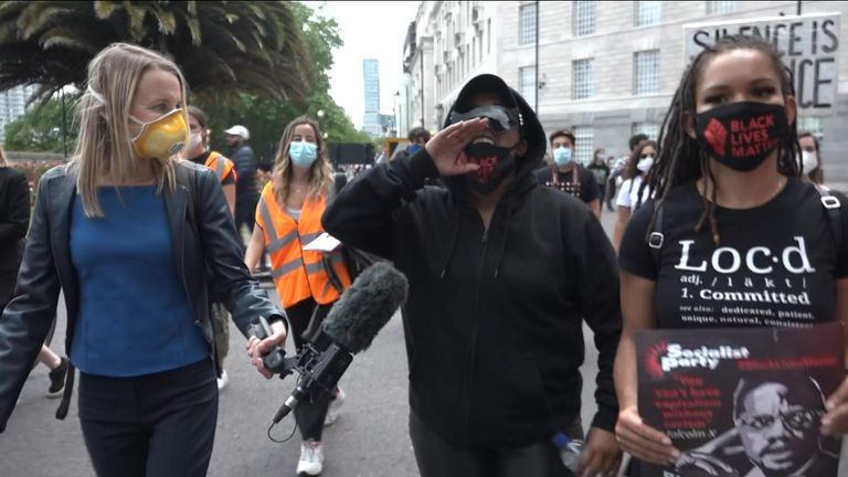 Sky's Deborah Haynes was walking with Black Lives Matter protesters in London.