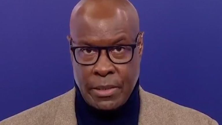 Sky Sports News presenter Mike Wedderburn sought to explain to viewers why saying 'white lives matter' is considered offensive.