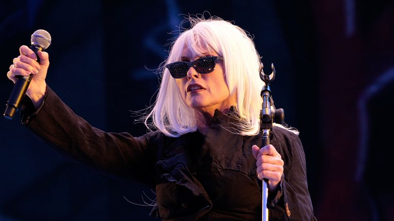 Blondie on day 1 of the Isle Of Wight Festival at Seaclose Park on June 12, 2010 in Newport, Isle of Wight.