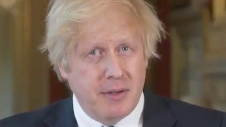 boris johnson denounces protestors