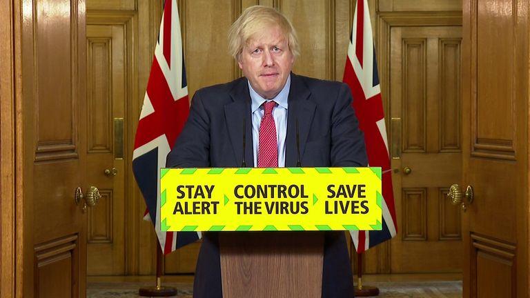 Boris Johnson announces the concept of the 'support bubble'