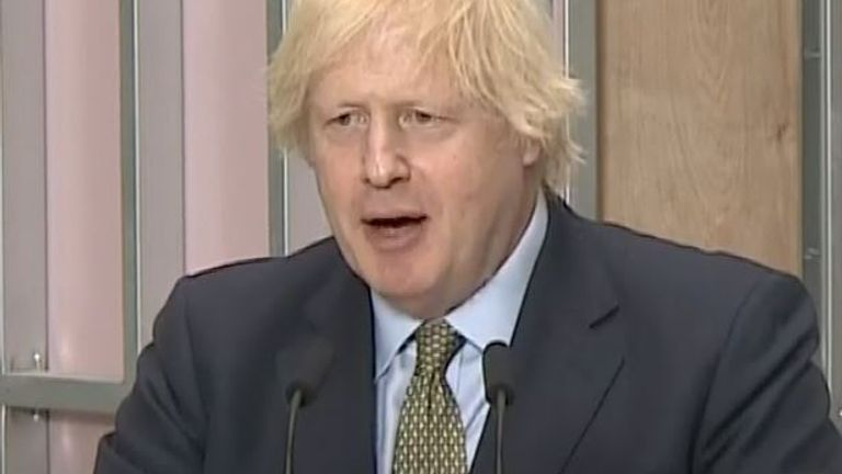 Boris Johnson says that taxes will be kept down as far as possible during his economic rebuild