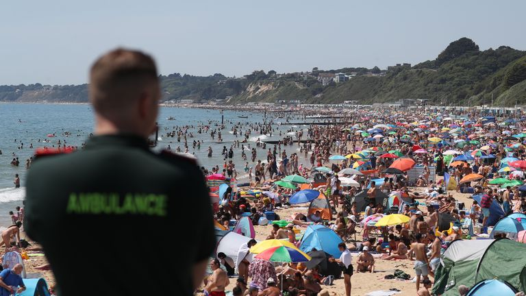 A major incident has been declared in Bournemouth