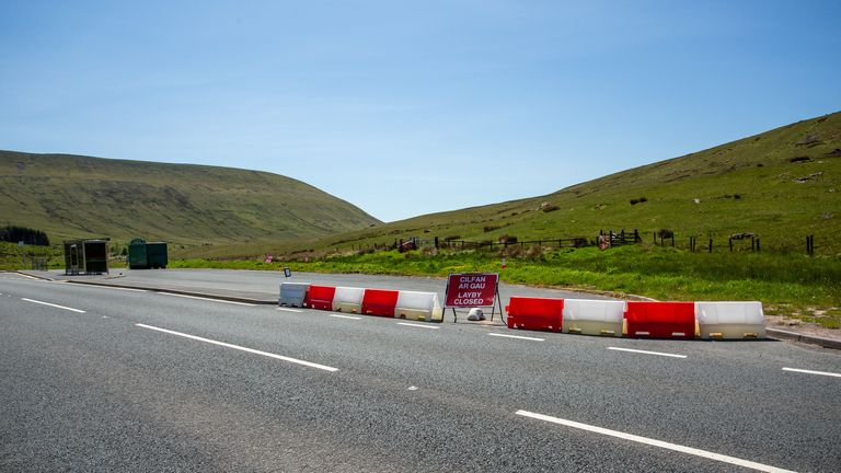 Restrictions are in place to stop public accessing the Brecon Beacons