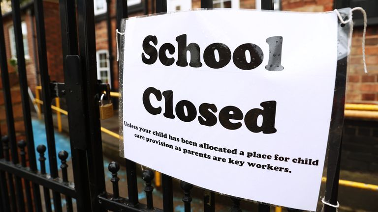 File photo dated 30/03/20 of signage outside a closed West Bridgford Infants School in Nottingham