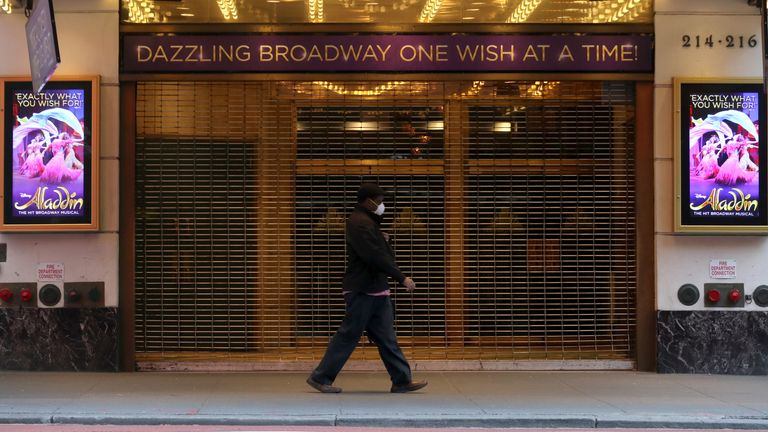 Broadway's theatres closed in March