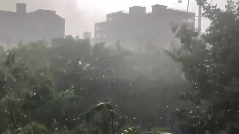 Brooklyn experiences extreme hailstorm in June