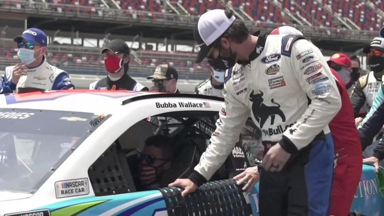 NASCAR drivers have rallied around to support Bubba Wallace