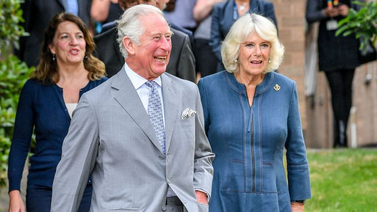 Charles and Camilla enjoyed a socially-distanced visit to the hospital