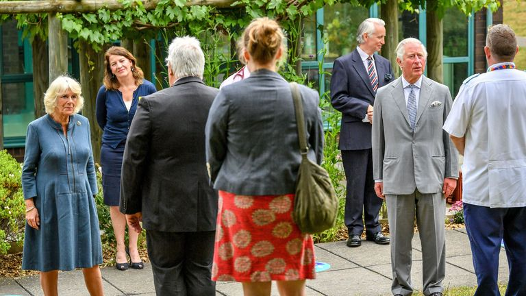 Charles and Camilla met frontline workers