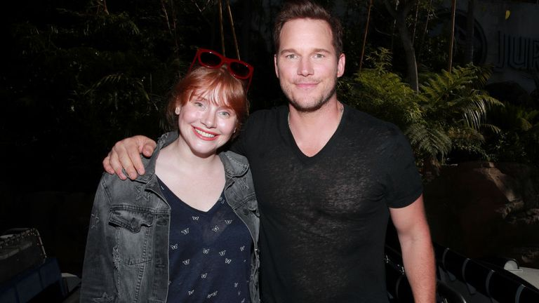 Bryce Dallas Howard and Chris Pratt will be filming in the UK