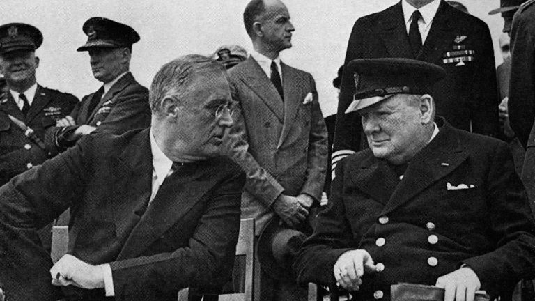The 1941 meeting between Sir Winston Churchill and Franklin D, Roosevelt led to the Atlantic Charter
