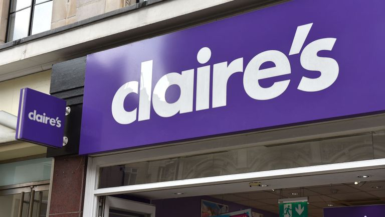 LONDON, ENGLAND - JULY 19: A general view of a Claire's Accessories store entrance on Oxford Street on July 19, 2018 in London, England. (Photo by John Keeble/Getty Images)