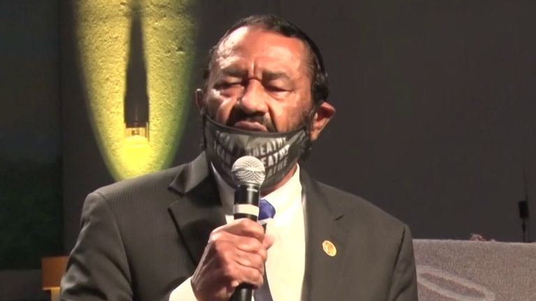 Congressman Al Green demands reconciliation at funeral of George Floyd