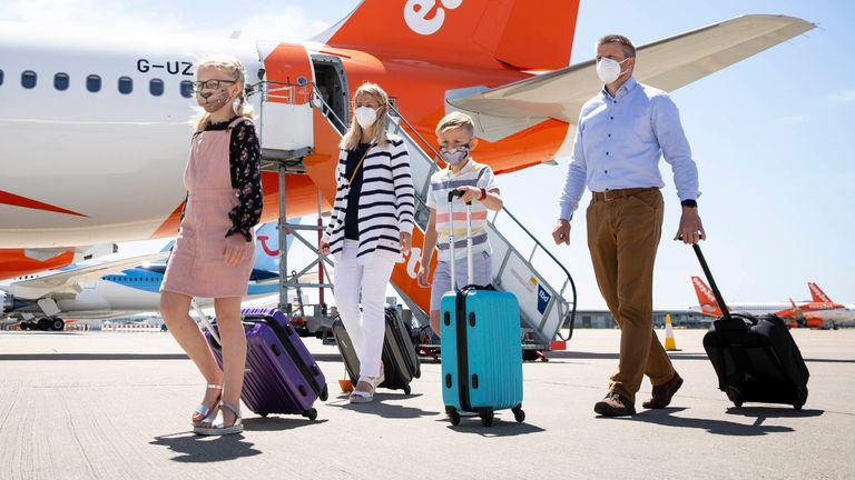 EDITORIAL USE ONLY Airline easyJet has introduced new safety and wellbeing measures for customers and crew, which includes enhanced aircraft cleaning and a requirement for passengers and crew to wear face masks when travelling, at Gatwick Airport.