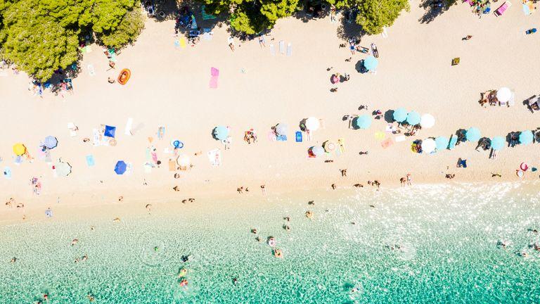 A beach in Croatia