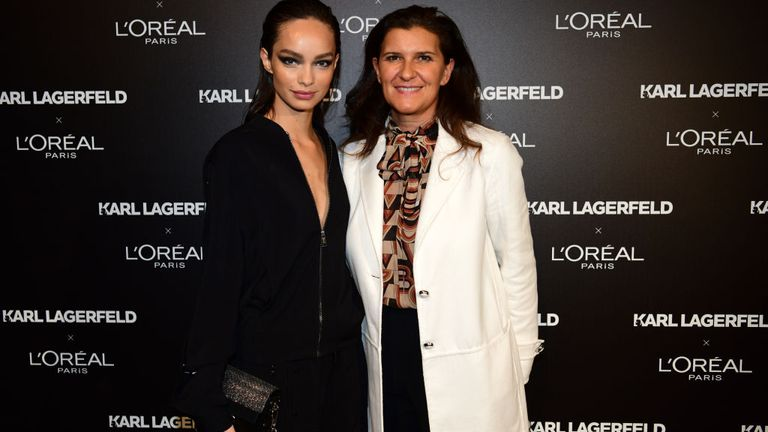 L'Oreal Paris president Delphine Viguier (r) spoke to Munroe Bergdorf and apologised for how she was treated in 2017