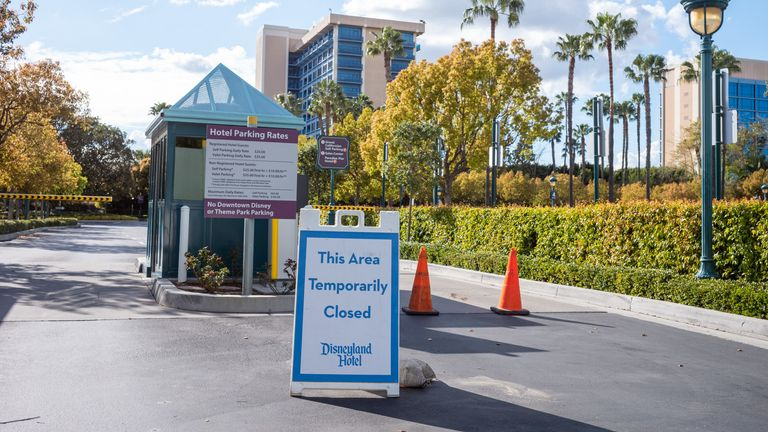 Disneyland in California remains closed