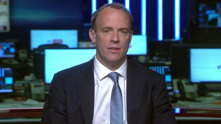 Dominic Raab says that Russia and other countries are trying to exploit coronavirus crisis