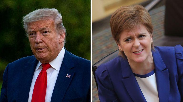 Nicola Sturgeon was speaking to a Scottish radio station