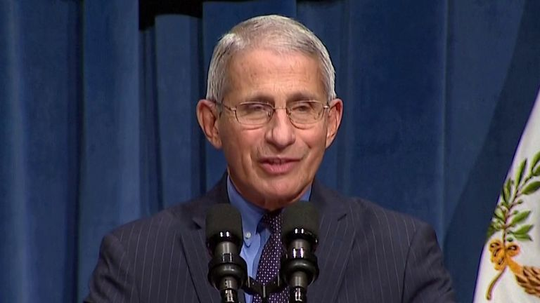 Dr Anthony Fauci explains the problem of transmission in a pandemic