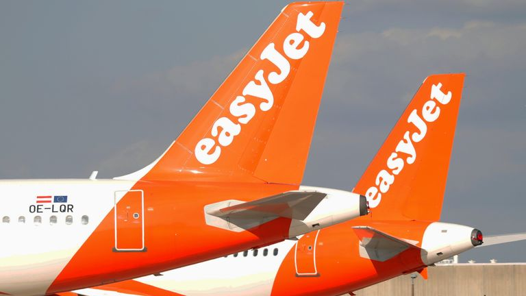 EasyJet airplanes sit on the tarmac at Paris Charles de Gaulle airport in Roissy-en-France during the outbreak of the coronavirus disease (COVID-19) in France May 25, 2020