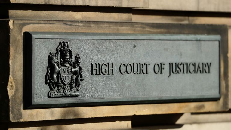 The sign outside Edinburgh High Court