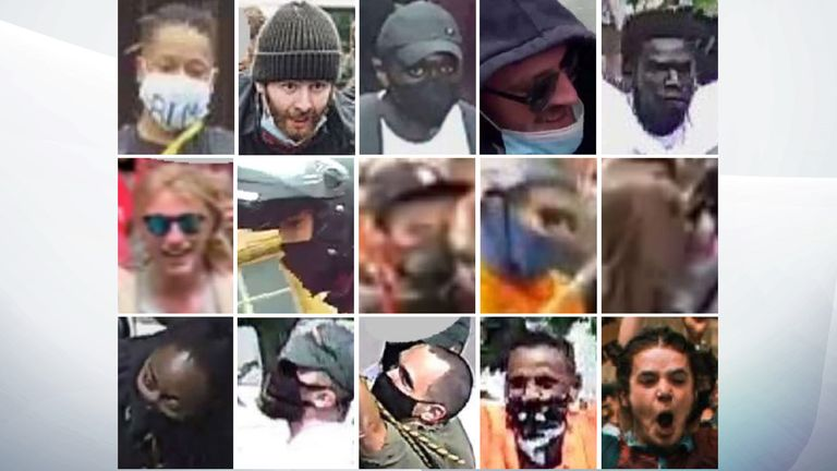 Avon and Somerset Police have released images of 15 people they want to speak to