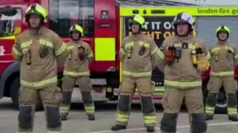 London Fire Brigade honour Dame Vera Lynn with rendition of We'll Meet Again