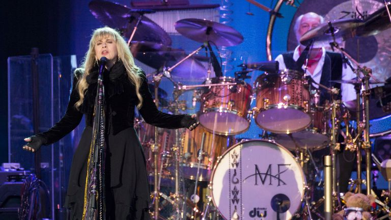 Stevie Nicks from Fleetwood Mac performs on Day 4 of the Isle of Wight Festival at Seaclose Park on June 14, 2015 in Newport, Isle of Wight
