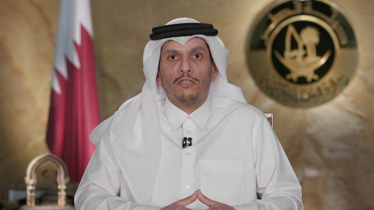 The Foreign Minister of Qatar, Sheikh Mohammed bin Abdulrahman Al-Thani
