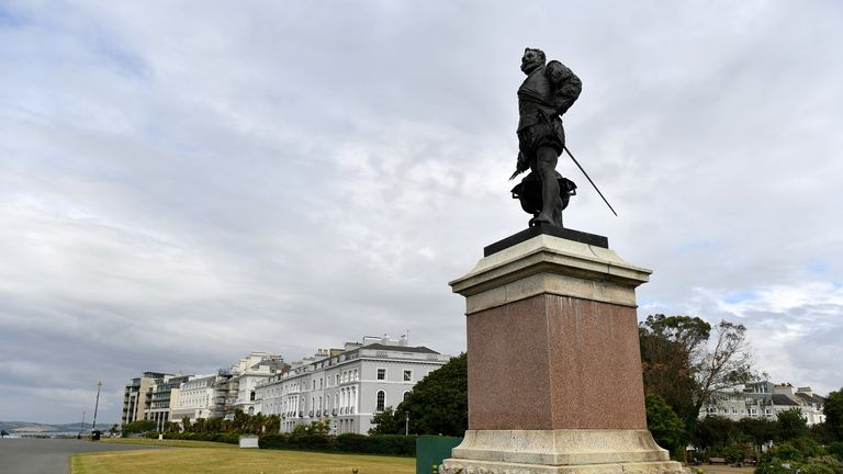 A statue of Sir Francis Drake in Plymouth.