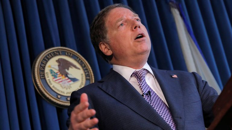 Geoffrey Berman has refused to resign despite the US attorney general claiming he has