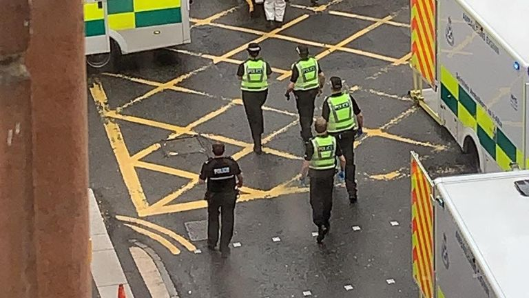 There is an ongoing incident in Glasgow