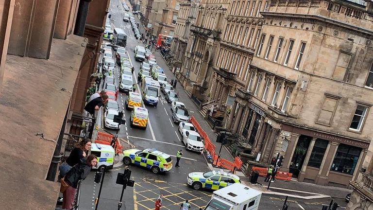 Glasgow streets have been sealed off