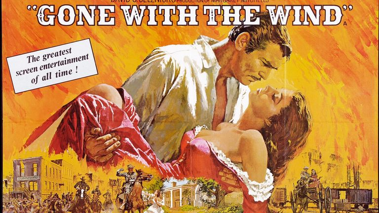 'Gone with the Wind' a 1939 American epic historic romance film adapted from Margaret Mitchelle's Pulitzer-winning novel starring Clark Gable and Vivien Leigh. 1939