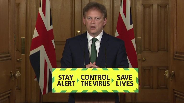 Grant Shapps says people shouldn't be attending protests
