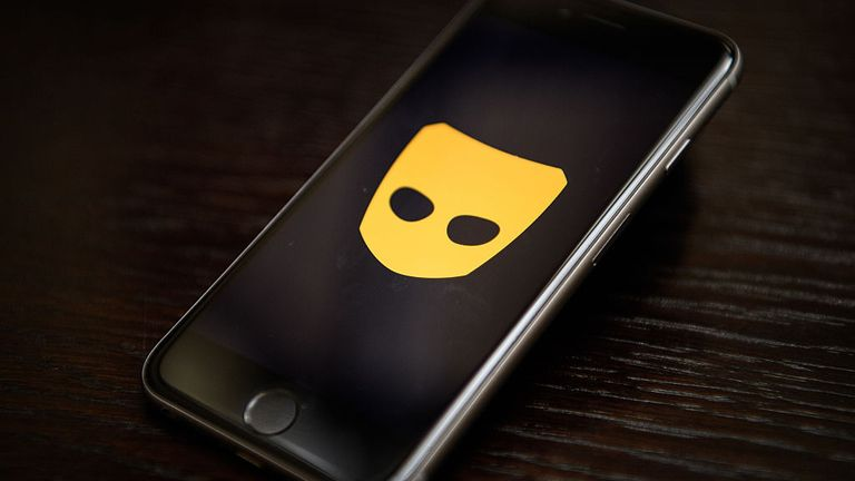 """LONDON, ENGLAND - NOVEMBER 24: The """"Grindr"""" app logo is seen on a mobile phone screen on November 24, 2016 in London, England. Following a number of deaths linked to the use of anonymous online dating apps, the police have warned users to be aware of the risks involved, following the growth in the scale of violence and sexual assaults linked to their use. (Photo by Leon Neal/Getty Images)"""