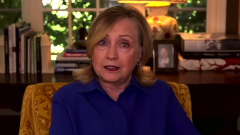 Former presidential candidate Hillary Clinton spoke Sky's Kay Burley about the recent Black Lives Matter protests across America