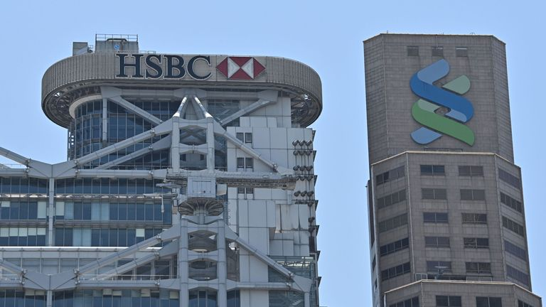 HSBC and Standard Chartered are based next to each other in Hong Kong