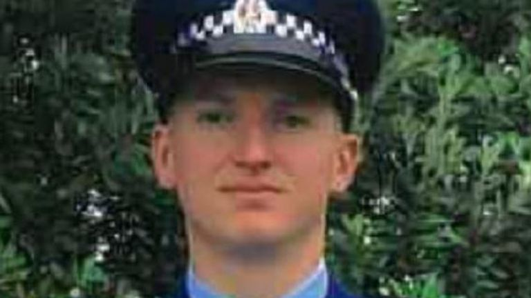 Constable Matthew Dennis Hunt, 28, of Auckland. He was shot in an incident in the city. Pic: NZ Police