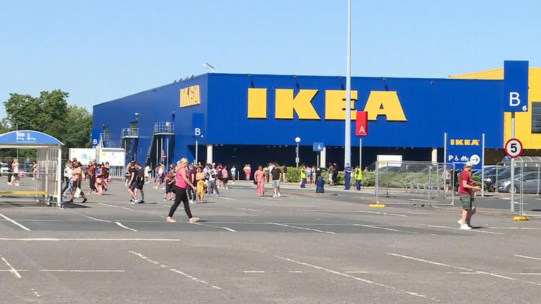 19 Ikea stores re-opened as the coronavirus lockdown measures were eased in parts of the UK.