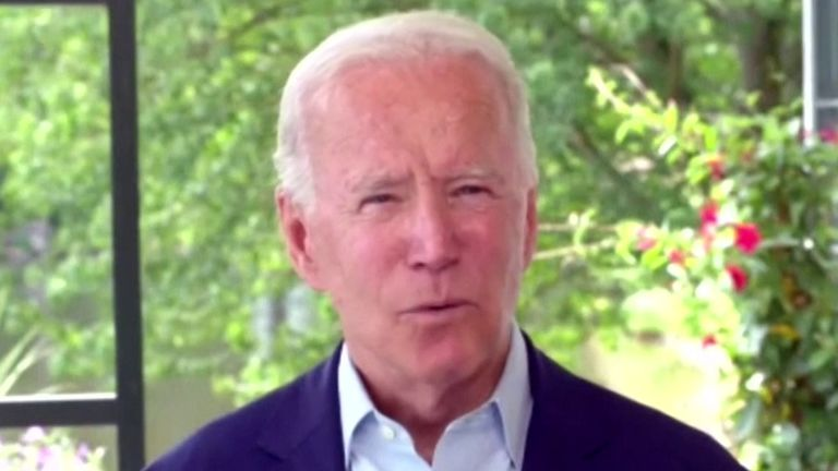 Joe Biden berates Donald Trump for allegedly knowing about Russian bounties on US troops and doing nothing about it