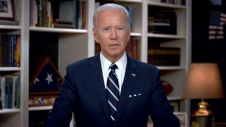 Joe Biden speaks at George Floyd's funeral