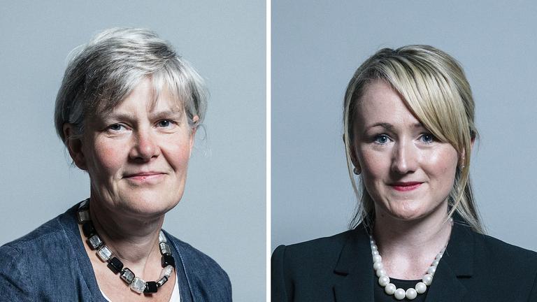 Kate Green (L) replaced Rebecca Long-Bailey as Shadow Education Secretary